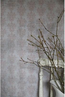 Lila/rózsaszín vintage tapéta méterre