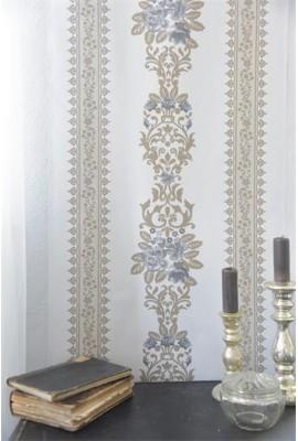 Virágminta - Antik francia mintás tapéta