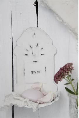 Békebeli fali szappantartó ~ fehér