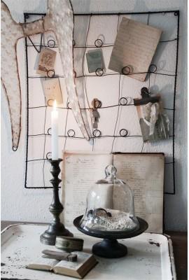 Drótból font memotábla ~ rozsda patina