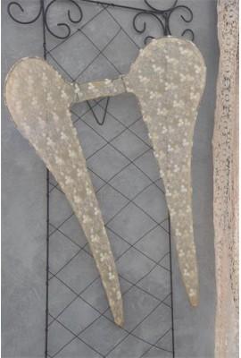 80 cm-es patinázott tüll-csipke angyalszárny